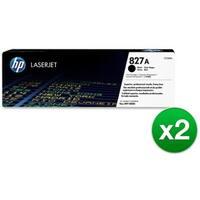 HP 827A Black Original LaserJet Toner Cartridge (CF300A)(2-Pack)