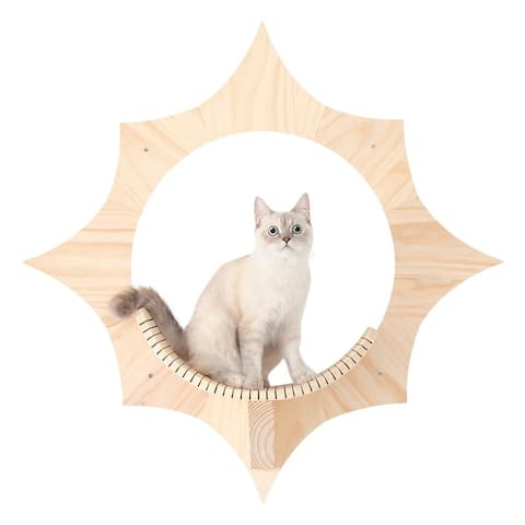 MYZOO Solar Wall Mounted Cat Shelves - Beige