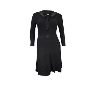 Tommy Hilfiger Women's Layered Ribbed Sweater Dress - Black