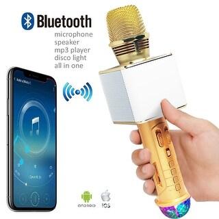 Wireless Portable Bluetooth 4.0 KTV Karaoke Microphone & Speaker combo
