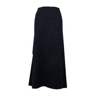 JM Collection Women's Asymmetrical Seamed Ponte Skirt