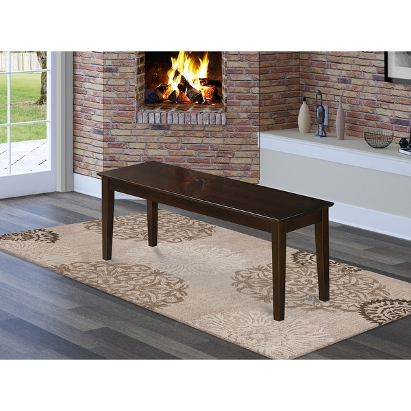 East West Furniture Lucien Wooden Seat Single Dining Bench (Finish Bench Option). Opens flyout.