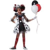 California Costumes Creepy Clown Girl Child - Black/White/Red