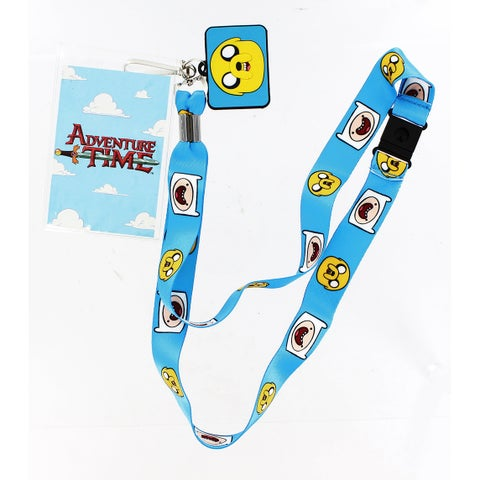Adventure Time Lanyard with Jake Charm - Multi