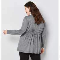 AVENUE Women's  Cardigan with Back Drawstring