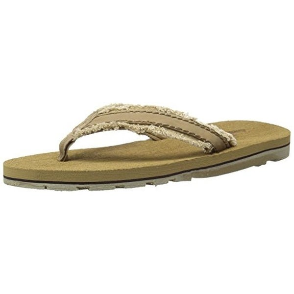 Wembley Mens Flip-Flops Distressed Frayed