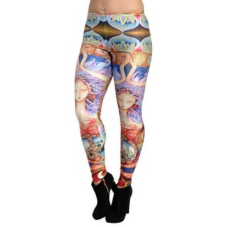 48a5fb42764fd Shop Women's Lotus Flower Leggings Medium Tall - Free Shipping On Orders  Over $45 - Overstock.com - 23168369