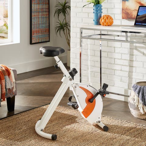 Virgil White Exercise Bike Chair by iNSPIRE Q Classic