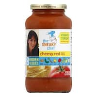 Sneaky Chef Pasta Sauce - Cheesy Red - Case of 12 - 24 oz.
