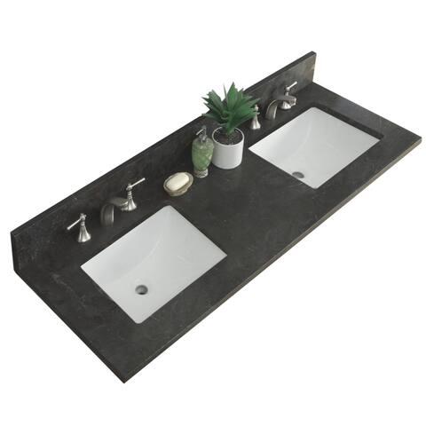 "61""Limestone Top with Rectangular Sink"