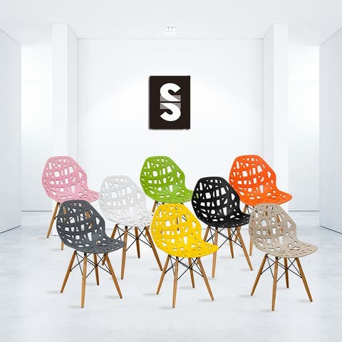 Mod Made Eiffel Stencil Cutout Side Chairs (Set of 2)