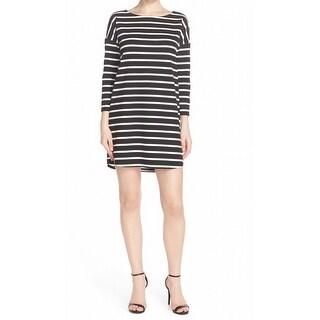 BB Dakota NEW Black Women's Size XS Phillipa Stripe Ponte Shift Dress