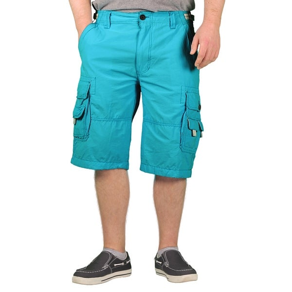 WearFirst Men's Cotton Sheeting Cargo Shorts