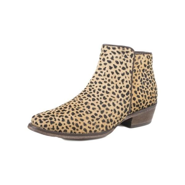 Roper Western Boot Women Cheetah Hair Snip Toe Tan