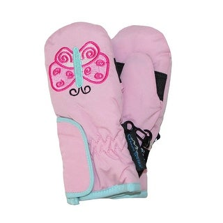 Grand Sierra Toddlers Girls' 2-4 Embroidered Waterproof Mittens