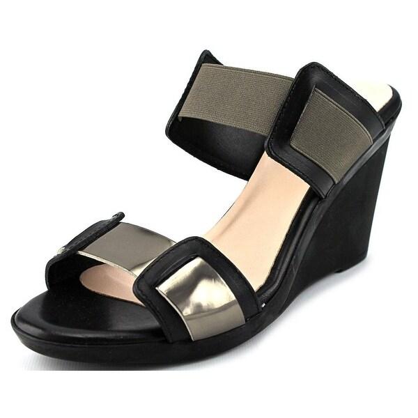 Aquatalia By Marvin K Juliet Black/Taupe Sandals