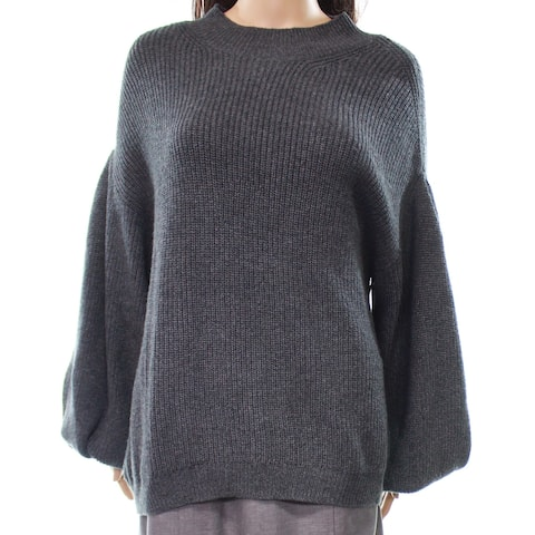 Leith Women's Small Blouson Sleeve Knitted Sweater