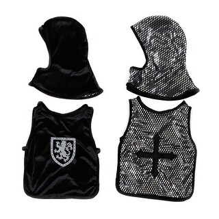 Knight Child Costume Set, Black & Silver, Small