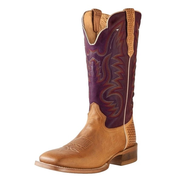 Outlaw Western Boots Mens Basketweave Pull Straps Alamo Meil