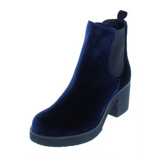Indigo Rd. Womens Margot Chelsea Boots Velvet Block Heel