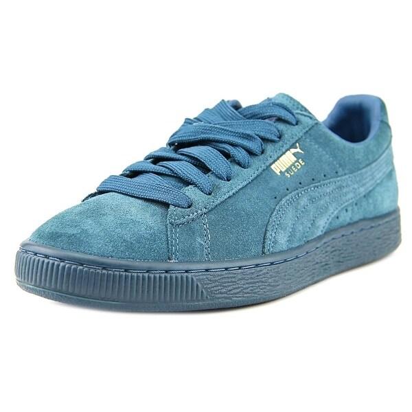 Puma Suede Classic Mono Reflced Men Round Toe Suede Blue Sneakers