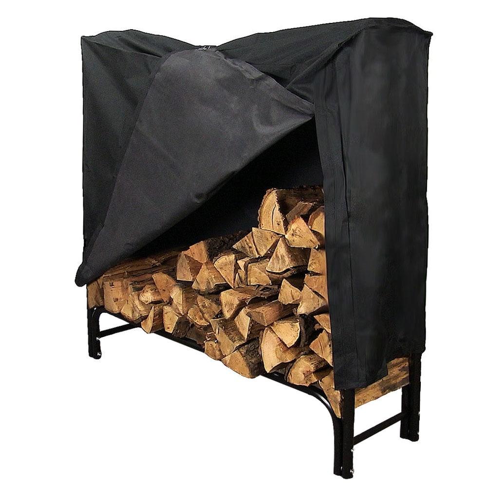 Sunnydaze Firewood Log Rack - Black - Thumbnail 13