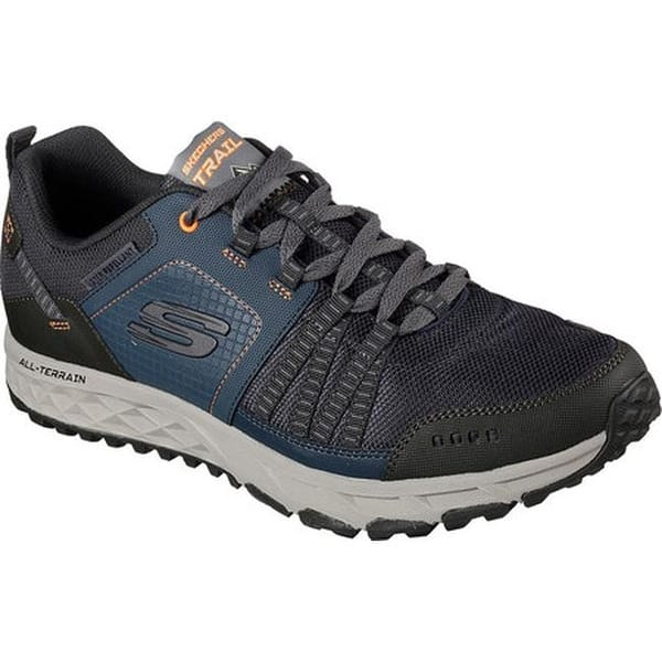 haz vacío Kilómetros  Shop Skechers Men's Escape Plan Sneaker Navy/Orange - On Sale ...