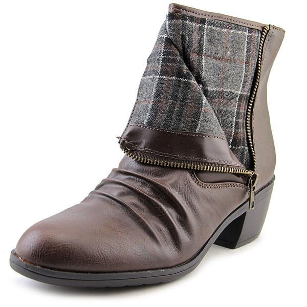 Life Stride Watchful Women Pointed Toe Synthetic Brown Ankle Boot