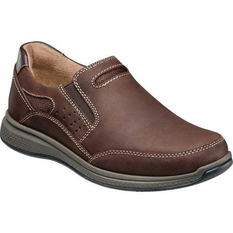 Florsheim Boys' Great Lakes Sport Slip On, Jr. Brown Chocolate Leather