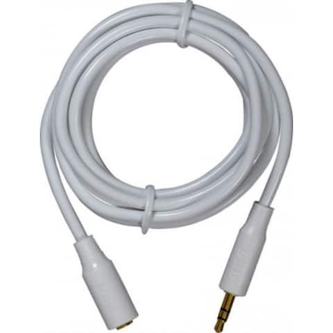 RCA AH735R Headphone Extension Cable, 3.5 mm, 6', White