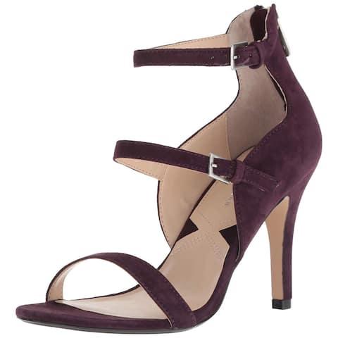 2754a031ad Adrienne Vittadini Womens Georgino Suede Open Toe Ankle Strap Classic Pumps