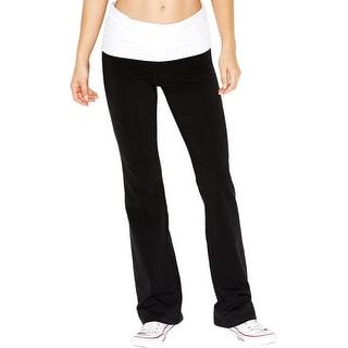 Guess Womens Yoga Pants Fold-Over Rhinestone
