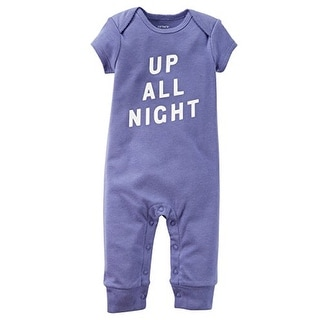 Carter's Baby Girls' Cotton Jumper- Up All Night- 9 Months