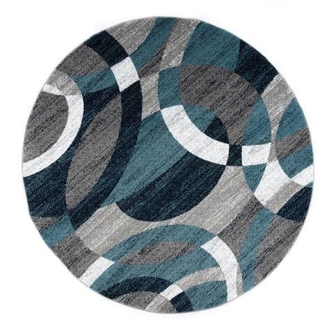 OSTI Geometric Circles Area Rug