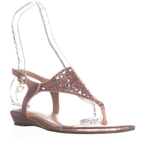 TS35 Ilyssa Ankle Strap Flat Sandals, Rose Gold - 8.5 us