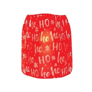 Modgy Holiday Expandable Luminary Christmas Lanterns - 4 Pack with Floating LED Candles - HoHoHo - 6.5 in. x 6.5 in. x 6 in.