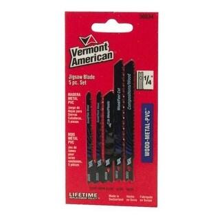 Vermont American 30034 5 Piece Jigsaw Blade Set