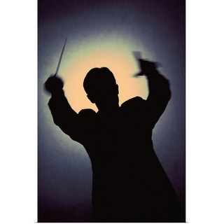 """""""Silhouette of conductor"""" Poster Print"""