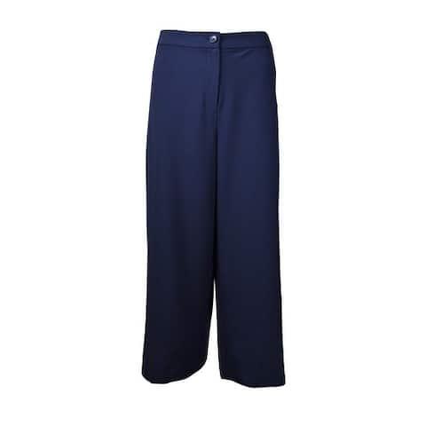 Alfani Women's Prima Crepe Wide-Leg Cropped Pants
