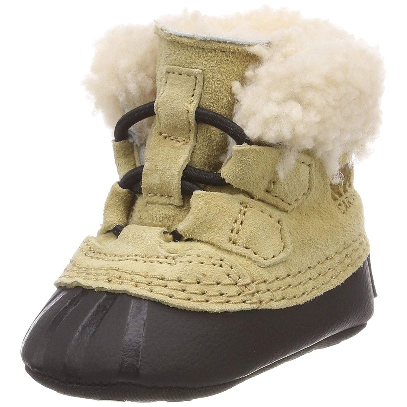 2 Sorel Caribootie Infant Silver Genuine Shearling crib shoe sz