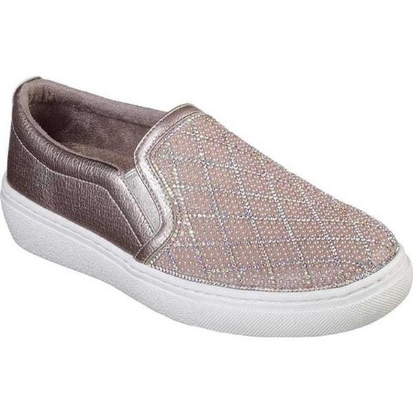 d53810c9d27b Skechers Women  x27 s Goldie Diamond Darling Slip-On Sneaker Rose Gold