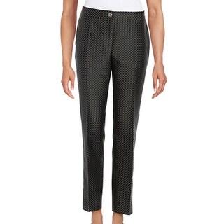 KARL LAGERFELD NEW Black Women's Size 8X28 Jacquard Dot Dress Pants