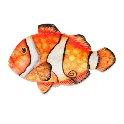Clown Fish Wall Decor - 9 x 1 x 6