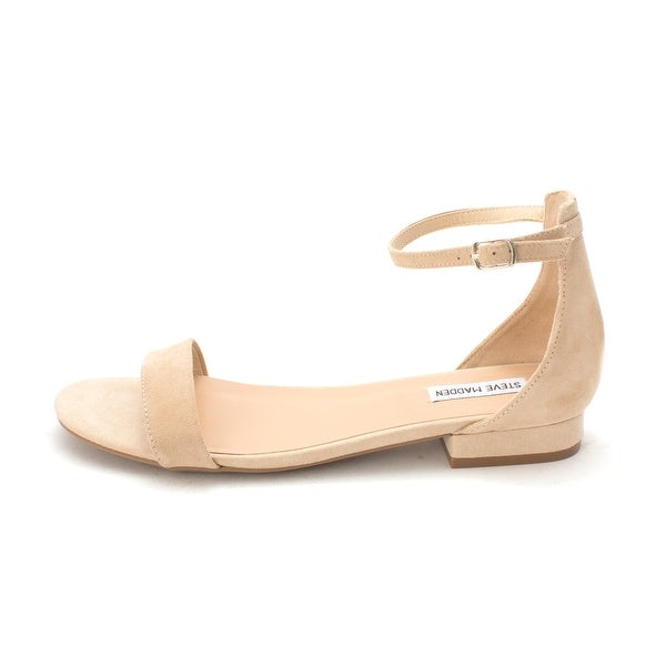 Steve Madden Womens Lamp Leather Open Toe Casual Ankle Strap Sandals