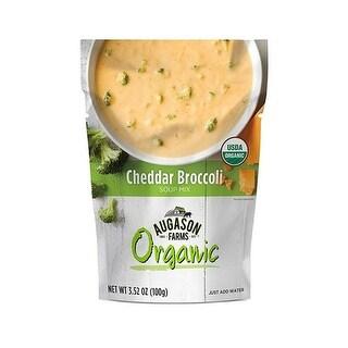Augason Farms 3.52 oz Organic Soup Cheddar Broccoli Pouch - Pack of 6