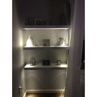 Shop Lewis Hyman Wall Mounted White Floating Shelf With 2