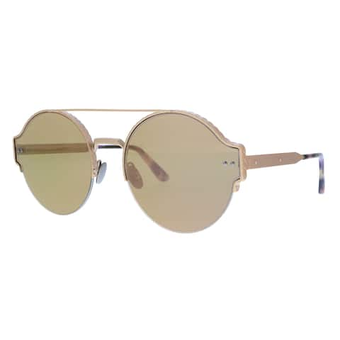 Bottega Veneta BV0013S-007 Gold Round Sunglasses - 59-16-140
