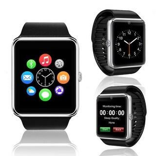 Indigi® (Silver) GT8 Unlocked 2-in-1 SmartWatch & Phone - Bluetooth Sync w/ Pedometer + Built-in Camera + SIM Slot - Silver