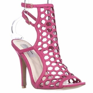 Chelsea & Zoe Elita Caged Dress Sandals - Fuchsia