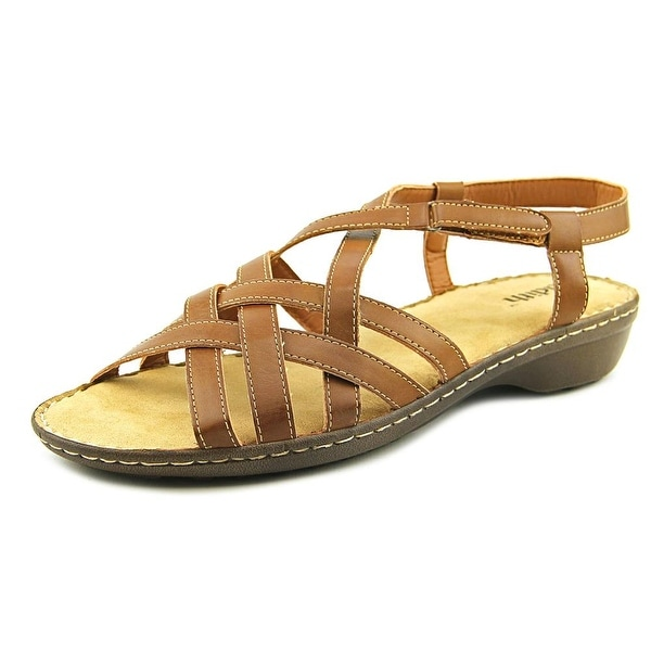Judith Tyra Women Round Toe Synthetic Brown Slingback Sandal